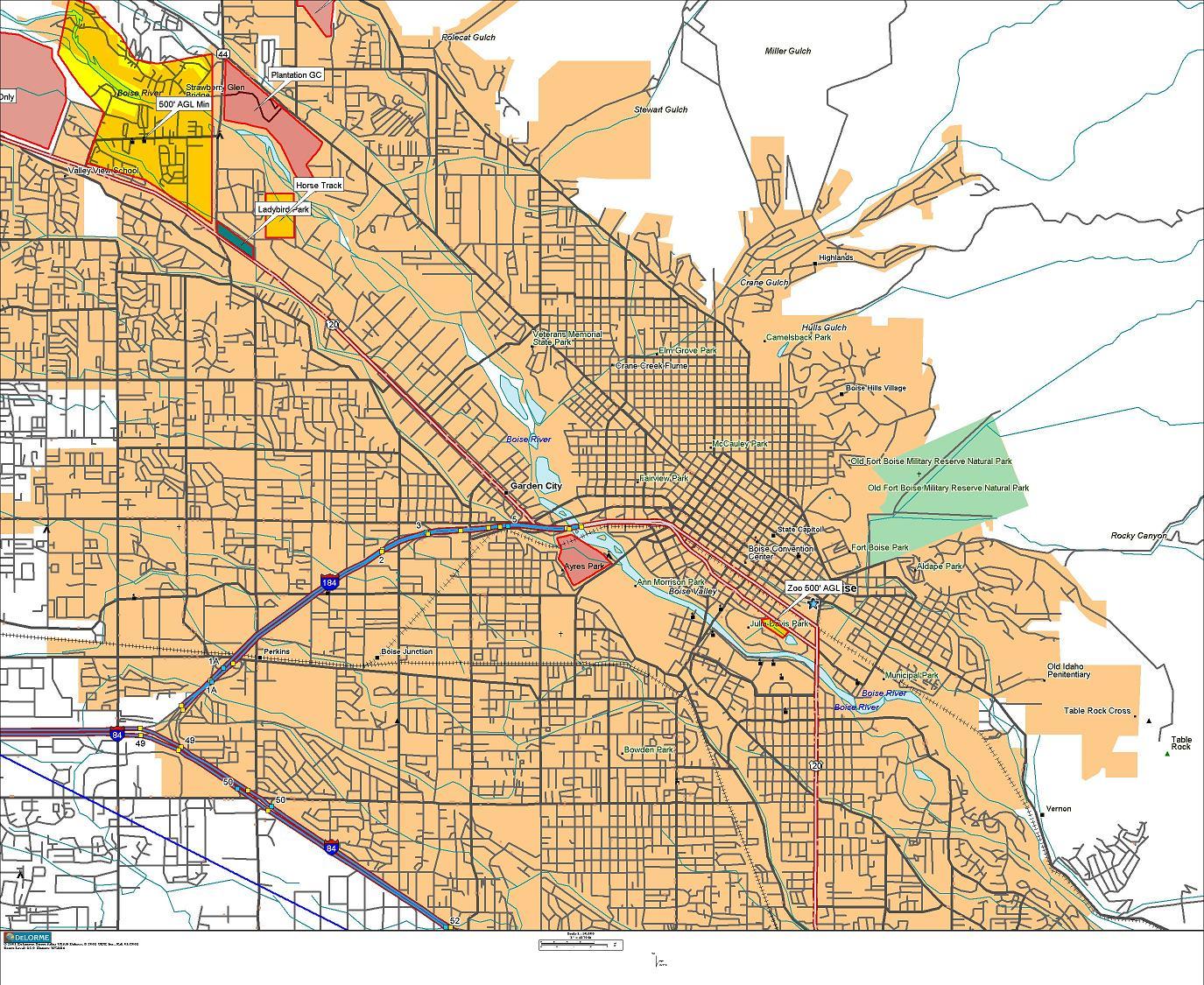 BOI Boise Area Maps